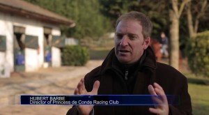 Russian TV coverage about French races starring the Princes de Condé Racing Club