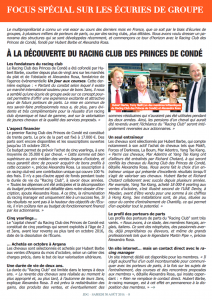 Very complete article about the Princes de Condé Racing Club in the French press today (Jour de Galop)
