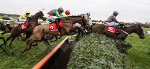 Vieux Lion Rouge on the way to Grand National